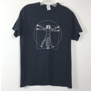 The Vitruvian Man 100 Heavy Cotton Tee Shirt M
